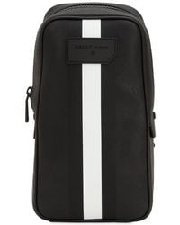 Bally - Striped Faux Leather Crossbody Bag - Lyst