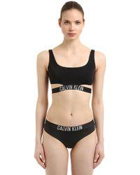 CALVIN KLEIN 205W39NYC - Logo Band Bralette Bikini Top - Lyst