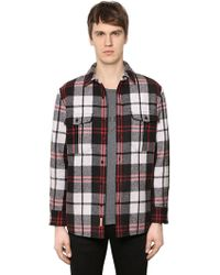 Burberry - Padded Check Wool Flannel Shirt - Lyst