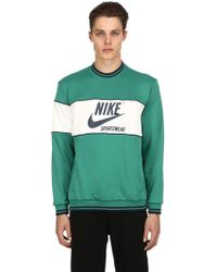 Nike - Logo Printed Colour Block Sweatshirt - Lyst