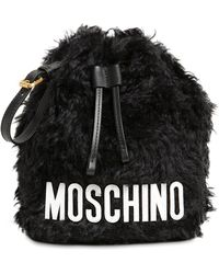 Moschino - Bucket Mohair Pouch - Lyst
