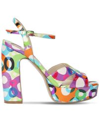 Ernesto Esposito - 125mm Printed Patent Leather Sandals - Lyst