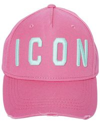 d2e4a42ff Lyst - DSquared² Embroidered Icon Logo Gabardine Baseball Cap in ...