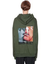 Juun.J - Hooded Printed Cotton Sweatshirt - Lyst