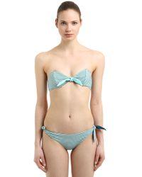Albertine - Brigitte Reversible Seersucker Bikini - Lyst