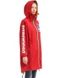 DSquared² - K-way Reversible Logo Nylon Rain Parka - Lyst