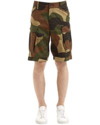 G-Star RAW - Shorts Cargo In Twill Di Cotone Camouflage - Lyst