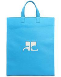 Courreges - Logo Patch Matte Vinyl Tote Bag - Lyst