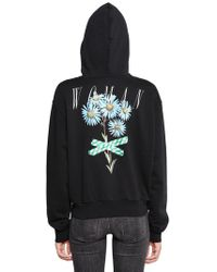 Off-White c/o Virgil Abloh - Floral Hooded Zip-up Jersey Sweatshirt - Lyst