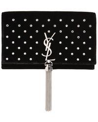 Saint Laurent | Kate Velvet Bag W/ Tassel And Crystals | Lyst