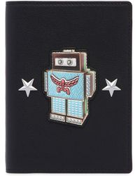 MCM - Roboter Leather Passport Holder - Lyst
