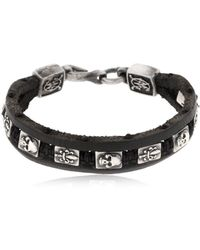Cantini Mc Firenze - Florentine Silver & Leather Bracelet - Lyst