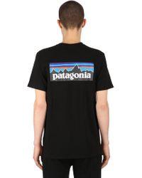 Patagonia - P-6 Logo Printed Organic Cotton T-shirt - Lyst