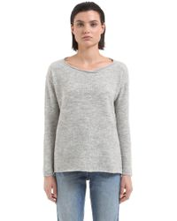 Transit - Cropped Wool Blend Knit Sweater - Lyst