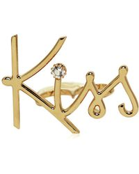 Lanvin | Kiss Gold Plated Brass Double Ring | Lyst