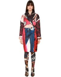 Moschino - Cappotto Oversize In Duchesse - Lyst