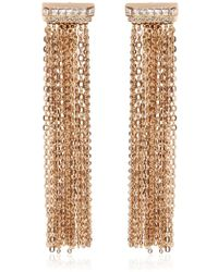 Lanvin - Chain Fringed Clip-on Earrings - Lyst