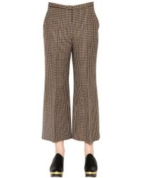 Rosetta Getty - Pantaloni Capri Svasati In Tweed Di Lana - Lyst