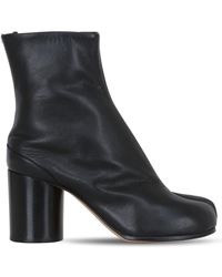 "Maison Margiela Bottines En Cuir ""Tabi"" 80 Mm - Noir"