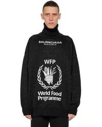 "Balenciaga - Maglia ""world Food Program"" In Lana - Lyst"