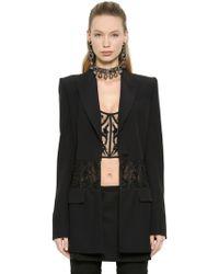 Alexander McQueen - Embroidered Corset Viscose Crepe Jacket - Lyst