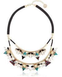Anton Heunis - Art Deco Expression Necklace - Lyst