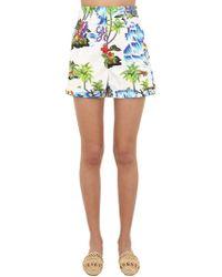 Stella Jean - Shorts Aus Baumwolle Mit Blumendruck - Lyst