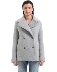 Transit - Virgin Wool Peacoat - Lyst