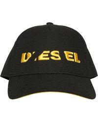 DIESEL - Broken Logo Twill Baseball Hat - Lyst