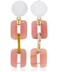 Marni - Horn Chain Clip-on Earrings - Lyst