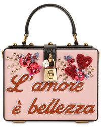 Dolce & Gabbana - Dolce Box L'amore È Bellezza Leather Bag - Lyst