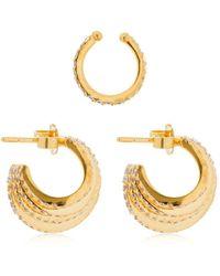 Joanna Laura Constantine - Set Of 3 Criss Cross Earrings - Lyst