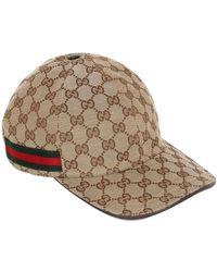 f9de7b3695d Lyst - Gucci Black Gg Supreme Baseball Cap in Black for Men