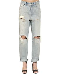 Alexander Wang - Destroyed Boyfriend Denim Jeans - Lyst