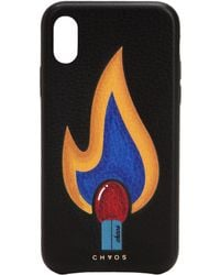 Chaos - Flame Leather Iphone X Cover - Lyst