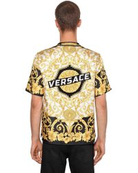 """Versace - """"Camicia Bowling """"""""heritage Hibiscus"""""""" In Seta"""" - Lyst"""