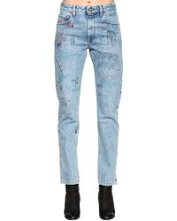 DIESEL - Graffiti Cotton Denim Jeans - Lyst