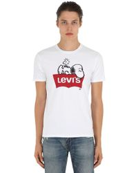"""Levi's - T-shirt """"snoopy"""" In Jersey Di Cotone - Lyst"""