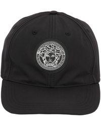 b82fb6566ca ... black awesome 45bf3 73432  store versace medusa nylon baseball hat lyst  99b64 ceac3