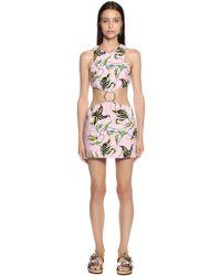 Fausto Puglisi - Floral Cotton Bourette Cutout Dress - Lyst