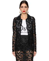 Dolce & Gabbana - Single Breasted Lace Jacket - Lyst