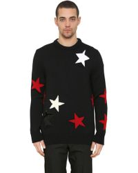 Givenchy - Stars Intarsia Wool Knit Sweater - Lyst