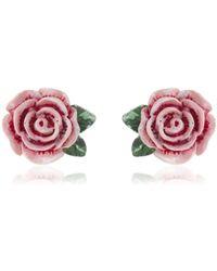 Dolce & Gabbana | Rose Clip-on Earrings | Lyst