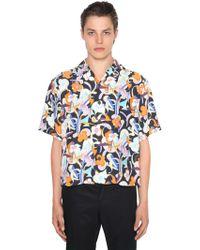 Prada - Camicia Bowling In Viscosa - Lyst