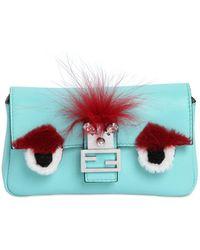 Fendi | Micro Baguette Monster Leather Bag | Lyst