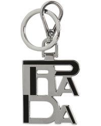 Prada - Portachiavi Con Logo - Lyst
