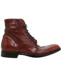 Rolando Sturlini - Washed Leather Boots - Lyst