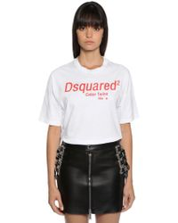 DSquared² - Logo Print Cotton Jersey T-shirt - Lyst