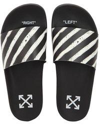 Off-White c/o Virgil Abloh - Spray Stripes Slide Sandals - Lyst