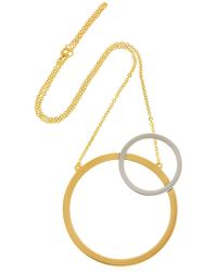 Vita Fede | Sole Two Toned Necklace | Lyst